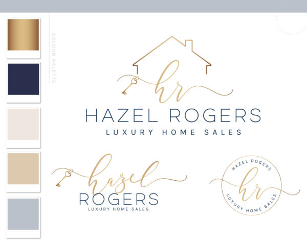 Heart Key Logo, Modern Logo Design, Broker Realtor Branding Kit, Real Estate Logo, Premade logo, Luxury House Realtor watermark, Realty logo