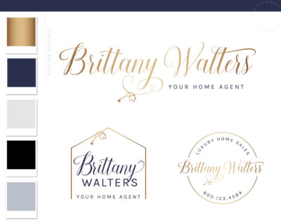 Realtor Logo, Real Estate Logo, House Logo, Realtor Branding, Gold Realtor Logo, Interior Design Key Logo, Premade Broker Logo