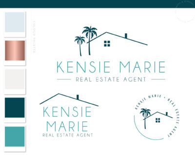 Real Estate Logo Design Branding Bundle for Instagram, Realtor House Marketing Logo Watermark and Broker Branding Package