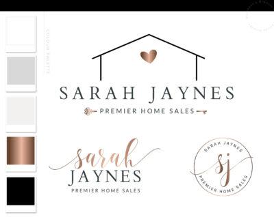 Home Logo, Modern Logo Package, Real Estate Logo, Broker Realtor Branding Kit, Premade Realty logo, House Sales Realtor watermark