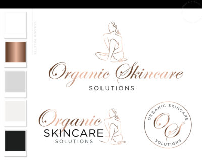 Plastic Surgery Logo Design, Cosmetic Procedures Logo Branding Kit, Skincare Fillers and Botox clinic Logo, Beauty Salon Logo Design