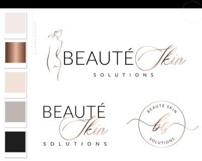 Plastic Surgery Logo Design, Cosmetic Laser Esthetics Procedures Logo Branding Kit, Skincare Fillers and Botox clinic Logo, Salon Logo