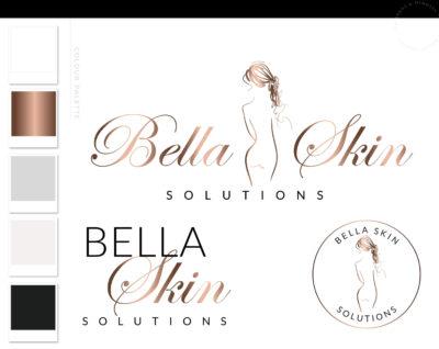 Cosmetic Laser Esthetics Logo Design, Plastic Surgery Procedures Logo Branding Kit, Skincare Fillers and Botox clinic Logo, Salon Logo