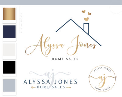 Real Estate Logo, House logo watermark, Realtor Logo, Realtor Marketing real estate agent branding Kit, Broker Logo, Roof Key Heart