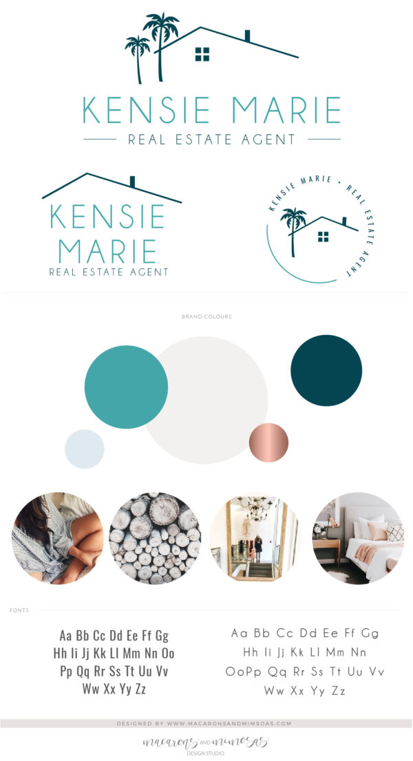 Real Estate Logo Design Branding Bundle for Instagram, Realtor House Marketing Logo Watermark and Broker Branding Package
