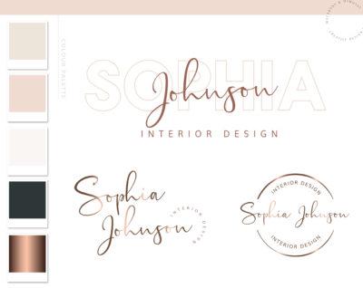 Modern Logo Design Branding Kit, Photography Business Logo Design service for custom logo branding and shop logos