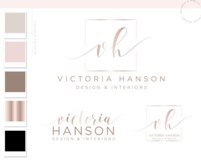 Branding Package Logo Branding Design, Premade Photography Watermark Logo, Business Logo Custom Branding Kit