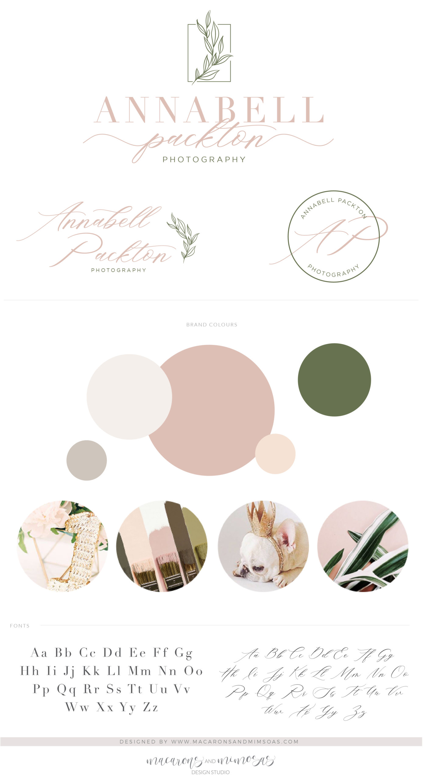 Leaf Logo Branding Kit Design, Floral Photography Boutique Eucalyptus Wreath Branch Premade Logo Watermark Package Greenery Wedding Logo