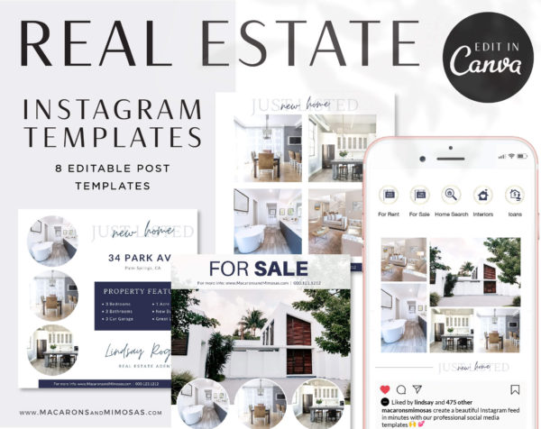 real estate instagram templates for story, Insagram Canva Templates for Realtors, Real Estate Agent Marketing Templates