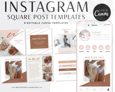 Instagram Post Templates, Canva Templates for Instagram, Boho Chic Instagram Templates, Fashion Instagram Templates,