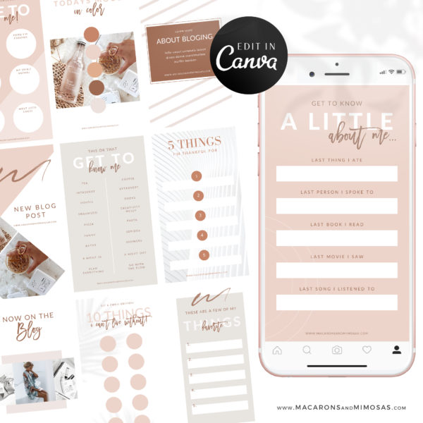 Best Instagram Story Templates & Banners for Canva, Story Engagement Instagram Templates, Infuenser Templates, Creative Instagram Templates