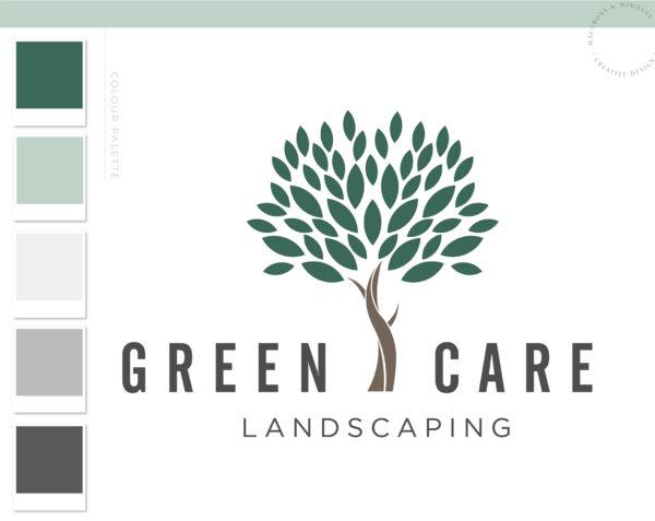 Landscaping Logo Design, Lawn Care and Service Logo, Garden Blog, Organic Brand, Plant Logo, Small Business Branding, Botanical Logo