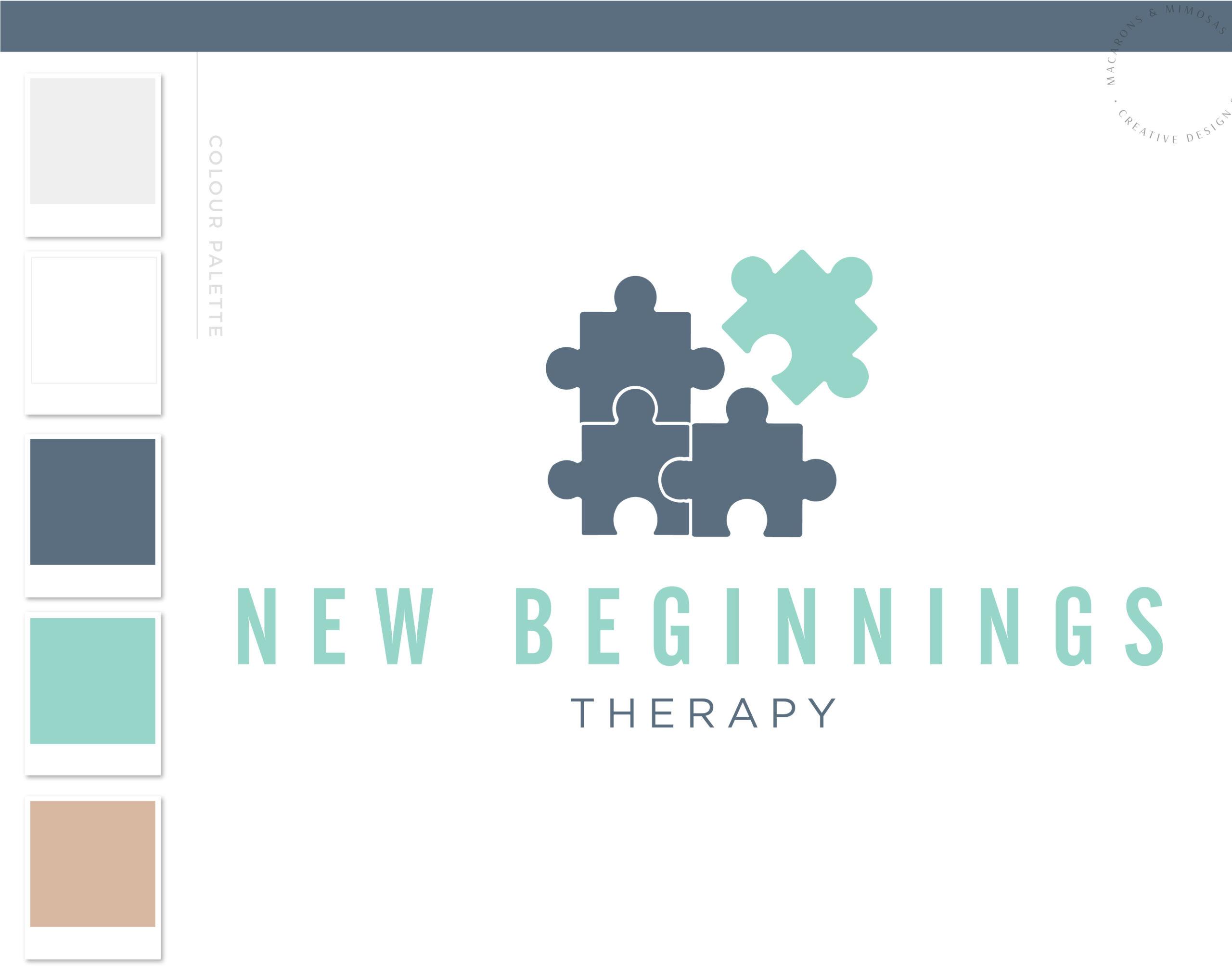 Psychologist logo, Puzzle Piece Logo design, Life coach therapy logo, Wellness Holistic Branding kit, Mental Health Mind Autism Awareness