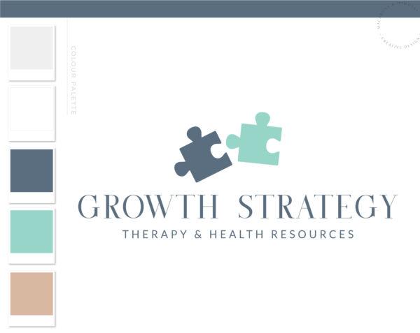 Puzzle Logo design, Life coach therapy logo, Psychologist logo, Wellness Holistic Branding kit, Mental Health Mind Autism Awareness