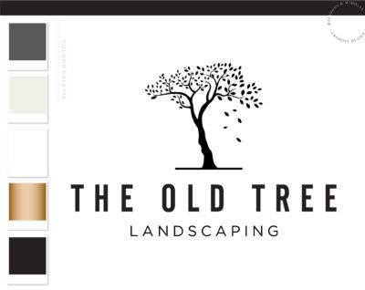 Tree Logo, Lawn Care Logo, Landscaping Service Logo, Garden Blog, Organic Brand, Plant Logo, Leaf Logo, Business Branding, Botanical Logo