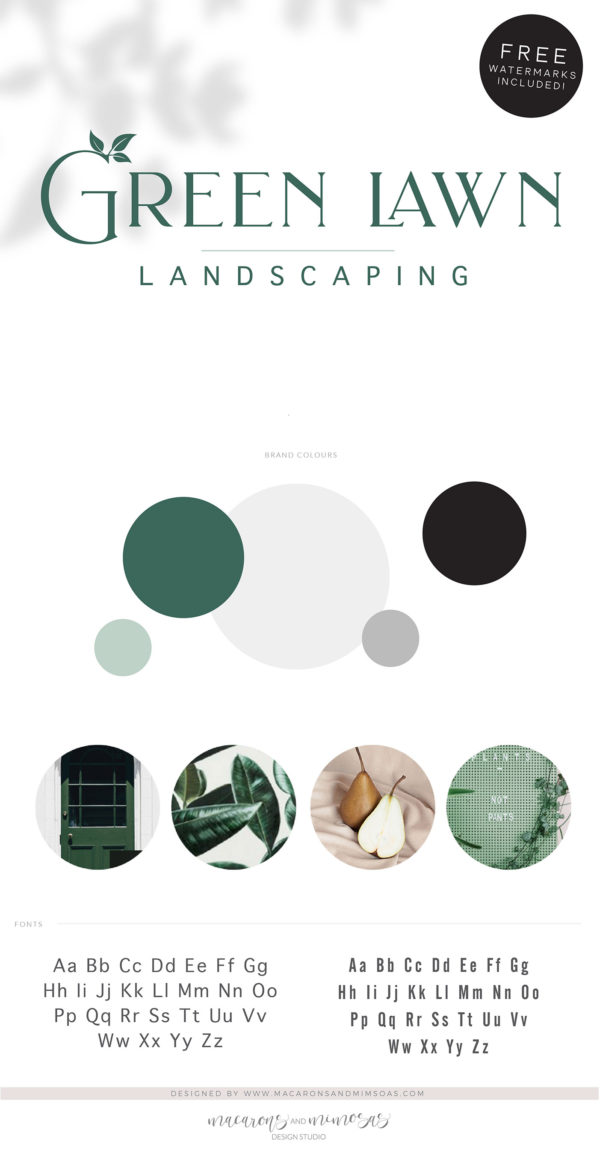 Leaf Logo, Lawn Care Logo, Landscaping Logo Design, Tree Logo, Garden Blog, Organic Brand, Plant Logo, Business Branding, Botanical Logo