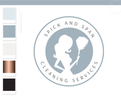 Maid Logo, Cleaning logo, Premade Housekeeper Logo, Cleaning Service Branding, Cleaning Lady Logo, Janitor Logo, Office Cleaner Logo