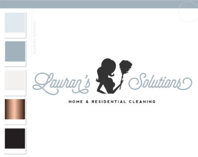 Cleaning Service Logo, Maid Logo, Cleaning Brand Design, Premade Housekeeper Logo, Cleaning Lady Logo, Janitor Logo, Office Cleaner Logo