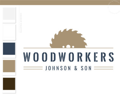 Woodworking logo, Carpentry Logo Design, Home Repair Services Logo, Handyman Logo, Masculine Branding Kit, Saw Blade Logo, Flooring Roofing
