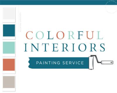 Painter Logo, Paint Brush Logo Design, Paint Roller Home Repair logo, House Painting, Handyman Logo, Masculine Branding Kit, Home Inspection