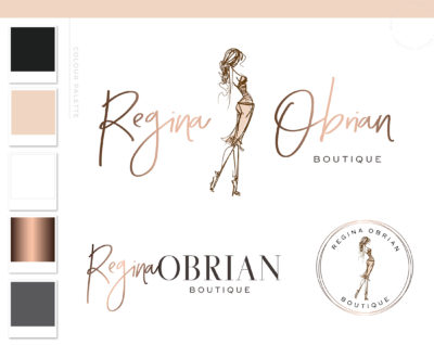 Fashion Logo Design, Fashion Blogger Influencer Branding Kit, Boutique Website Branding Logo Watermark, Premade Girl Fashion Logo