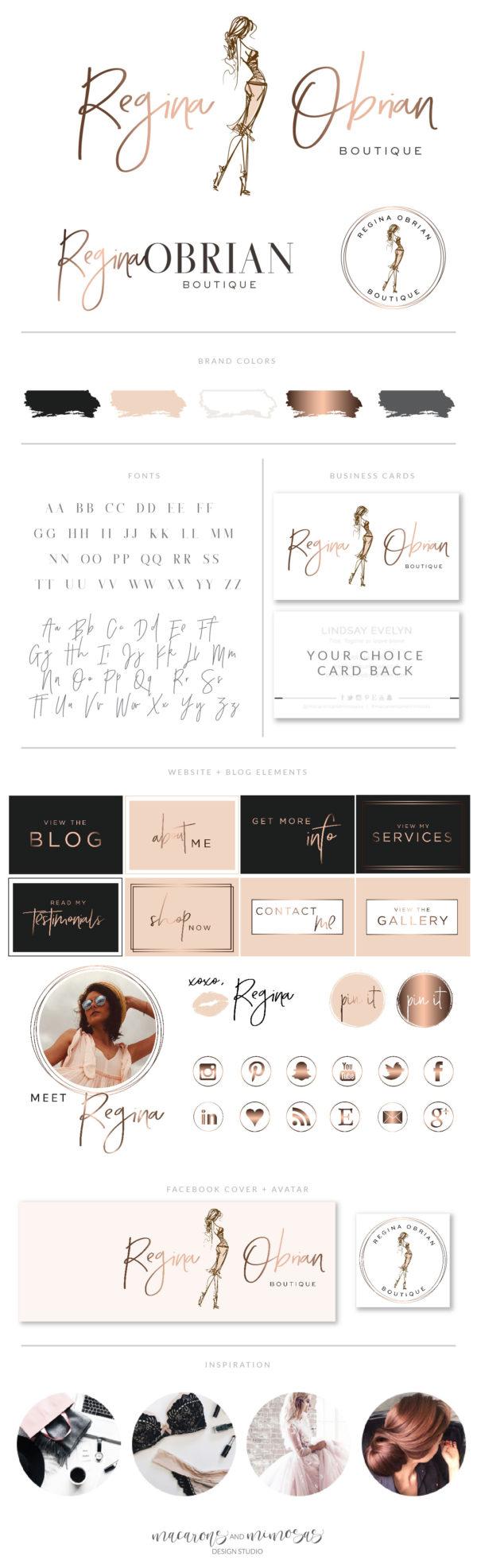 Fashion Logo Design, Fashion Blogger Influencer Branding Kit, Boutique Website Branding Logo Watermark, Premade Girl Fashion Logo