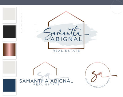 Home Logo, Modern Logo Package, Real Estate Logo, Broker Realtor Branding Kit, Premade logo, House Sales Realtor watermark, Realty logo