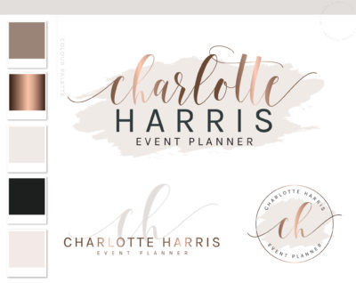 Premade Logo Design, Business Logo Package, Photography Branding Kit Logo Design, Watercolor Logo Design, Lash Logo, Boutique Shop Branding