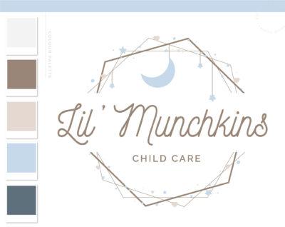 Moon Logo Design, Heart Star Raining Stars Baby Boutique Logo and Watermark, Photography Branding Kit, Sleepy Time Kids Branding Kit