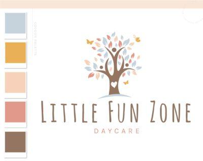 Boho Tree Logo Design, Daycare Child Care Logo, Baby Boutique Watermark, Butterfly Photography Branding Kit, Mental Health Logo Branding