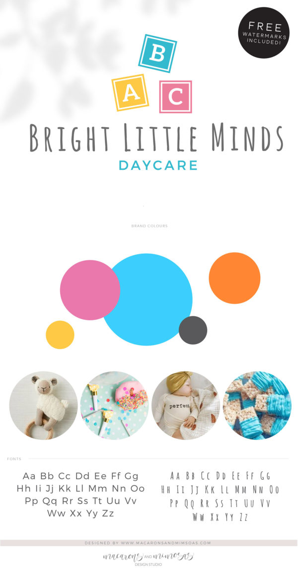 Building Blocks Logo Design, ABC Daycare Child Care Baby Boutique Logo and Watermark, Block Photography Branding Kit, Kids Logo Branding