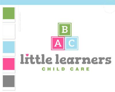 Block Logo Design, ABC Daycare Child Care Baby Boutique Logo and Watermark, Building Block Photography Branding Kit, Cute Kids Logo Branding