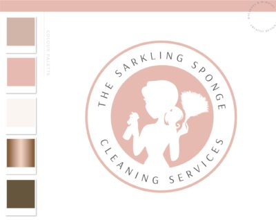 Maid Cleaning logo, Premade Housekeeper Logo, Cleaning Service Branding, Cleaning Lady Logo, Janitor Logo, Office Cleaner Logo