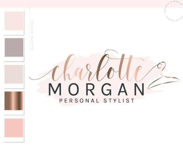 Watercolor Hanger Logo, Clothes Fashion Branding Kit with Watermark, Girls Business Logo for Fashion Boutique, Personal Stylist or Blogger