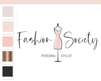 Personal Stylist Logo Design, Fashion Blogger Influencer Branding Kit, Boutique Website Branding Logo Watermark, Premade Girl Fashion Logo