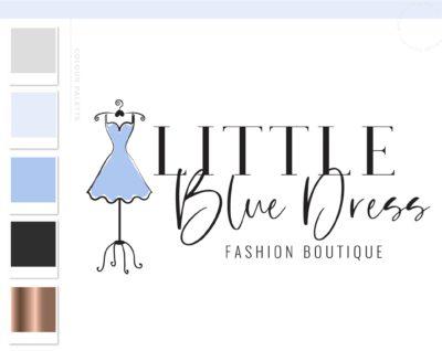 Personal Stylist Logo Design, Fashion Blogger Influencer Branding, Boutique Girl Mannequin Dress Form Branding Logo Watermark, Premade Logo