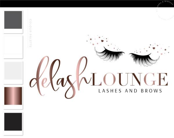 Lash Logo Design, Eyelash Logo Design, Eyelash Logo design, Lash Technician Logo, Salon Logo, Beauty Logo, Logo Template, heart sparkle lash