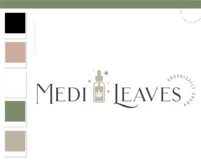 Health Weed Logo, CBD Logo, Cannabis Oil Logo, Marijuana Dispensary Logo, THC Logo Brand, Smoke Shop Logo, Organic Nature Leaf Watermark