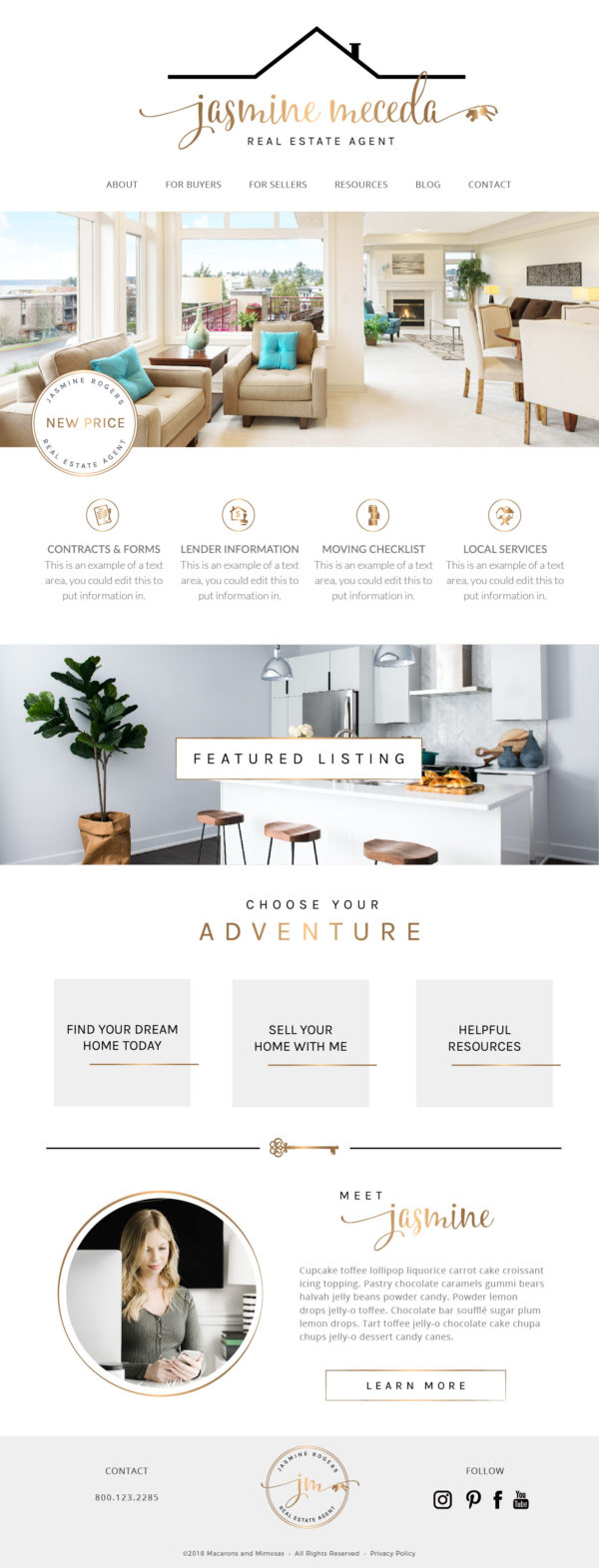 Real Estate Website Template, Real Estate Wordpress Theme, Realtor Website, Realty Company Website, Web Kit for Real Estate Agents