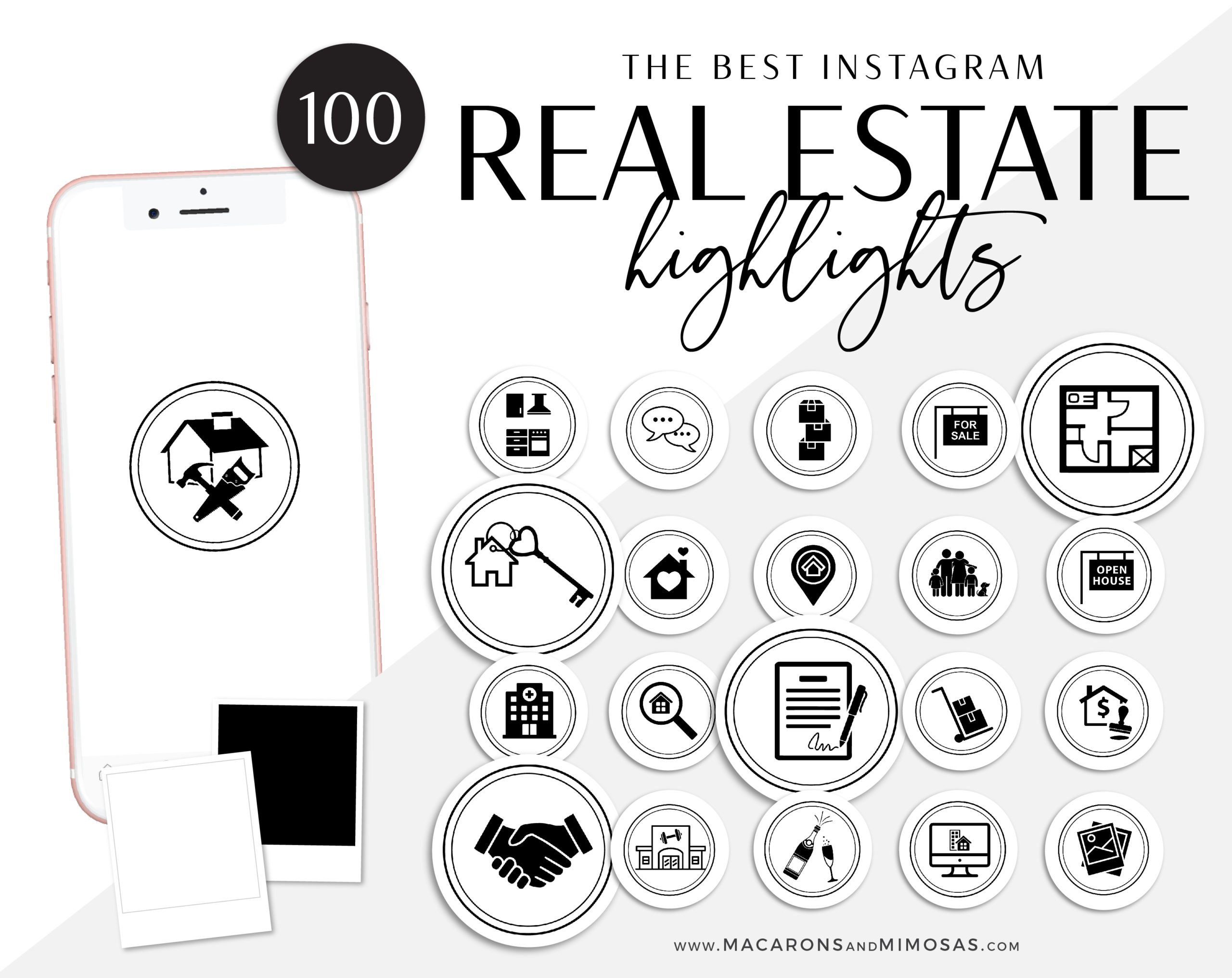 100 Real Estate Instagram Covers Macarons And Mimosas