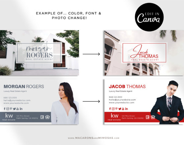 Real Estate Broker Business Card, Template for Realtor Business Cards, Century 21 Busness Card template, business cards for Property Agents