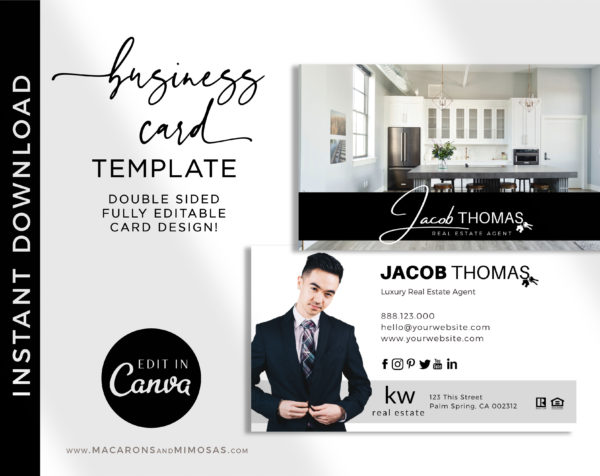 Real Estate Agent Business Cards, Realtor Business Card Template, Century 21 Business Card template, Business cards for Property and Broker