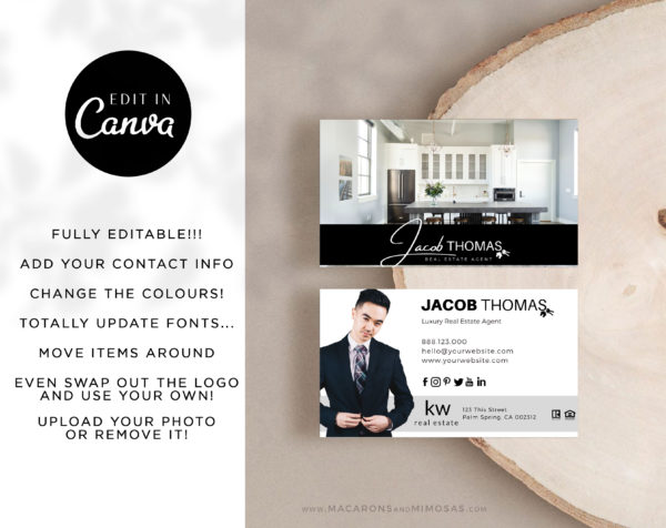 Real Estate Business Cards, Template for Realtor Business Cards, Century 21 Busness Card template, New business cards for Property Agents and Realtors