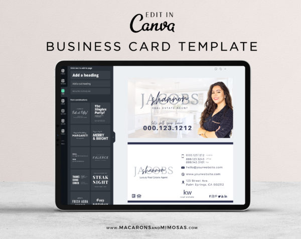 Realtor Business Cards, Real Estate Business Cards, Century 21 Business Card template, Property Agents Realtors business cards