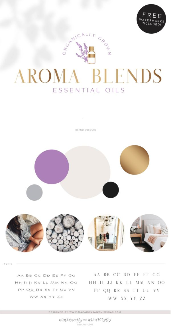 Lavender Essential Oil Logo, Premade Logo Design, Fragrance Oil with Bee Logo, Health Logo, EO doTerra Distributor Logo, Candle Floral Logo
