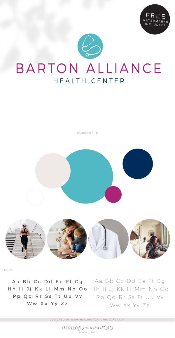 Heart Stethoscope Logo Design, Heath Doctor Logo, Nurse Logo, Plastic Surgery Branding Kit, Skincare Clinical Health logo
