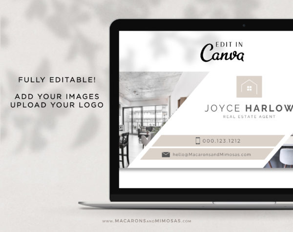 Realtor Facebook Cover Template, Canva Facebook Template for Photographer & Real Estate Agent, Photo Website Banner Interior Designer