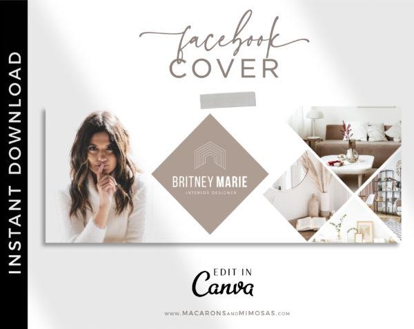 Interior Designer Facebook Banner, Real Estate Facebook Banner Template, Realtor Facebook Cover Design, Home Sales Cover Photos