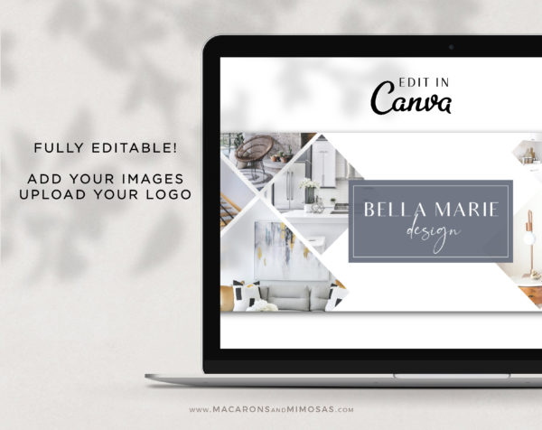 Canva Facebook Cover Template for Interior Designers, Realtor Facebook Banner Design, Photography and Real Estate Facebook Banner Photos