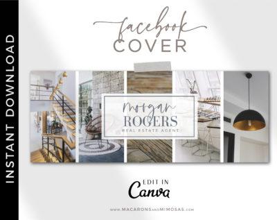 Canva Facebook Banner Template for Interior Designers, Realtor Facebook Banner Design, Photography and Real Estate Facebook Banner Photos